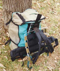 hiking and moutaineering backpack frame